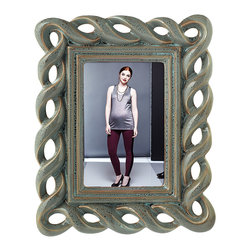 Grasslands Road - Stonebridge Lattice 4x6 Frame - Show and preserve your cherished memories, with this stylish picture frame.   7.25'' W x 9.75'' H Holds 4'' x 6'' photo Ceramic Imported