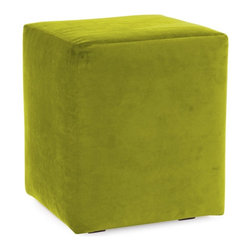 Howard Elliott - Mojo Kiwi Universal Cube Cover - Does your Universal Cube need an update? Do so by simply getting a new cover. Velcro fasteners and tailored design make it so you would never know this piece is slipcovered. Cleaning and updating is a breeze, change your look on a whim with new covers!