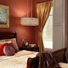 Transitional Bedroom by Littman Bros Lighting