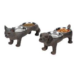 Perfect Pet Bowls - Set of 2 - *Dimensions: 6L x 15W x 7H