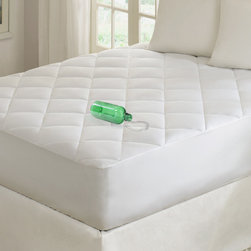 """Premier Comfort - Premier Comfort Quiet Nights Waterproof Cotton Mattress Pad - """"Finally a waterproof mattress pad that feels like your natural mattress. This waterproof mattress pad is made with 300TC cotton sateen on top, with a felt liner and a laminate liner behind it. Its also filled with a high quality poly fill, giving you the support you expect. """" 300TC cotton sateen (double insert) bleached, 10oz brushed 6D, felt inner liner, laminate back, 8"""" diamond quilt"""