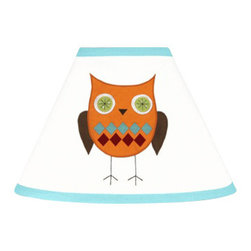 Sweet Jojo Designs - Hooty Turquoise and Lime Lamp Shade by Sweet Jojo Designs - The Hooty Turquoise and Lime Lamp Shade by Sweet Jojo Designs, along with the bedding accessories.
