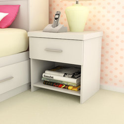 dCOR design - Willow 1 Drawer Nightstand - Features: -Willow collection.-Finish: Frost White.-Distressed: No.-Collection: Willow.Warranty: -Product Warranty: 1 year warranty.