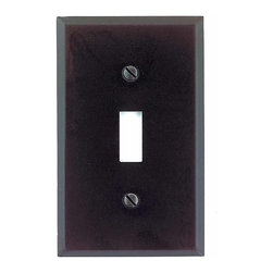 Renovators Supply - Switchplates Black Steel Single Toggle/Dimmer Switch Plate - Classic black matte stainless steel switchplates are maintenance-FREE & easily hold up to daily wear & tear. Tarnish-proof & rustproof these switchplates will last for generations. Finished with a luxurious black matte paint, they are perfect for the contemporary or traditional homeowners. Meets UL safety requirements. Mounting screws included for easy installation.