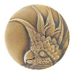 Tropical Collection by Notting Hill Decorative Hardware - Antique Brass Cockatoo Knob Right Side
