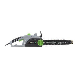 """Earthwise - Earthwise - 16"""" Corded Chainsaw - 120 V/60Hz. 12 Amp. 16"""" Oregon Chain and Bar. Automatic Oiling of Motor. Automatic Bar and Chain Oiling. Oil Level Window. Cord Retention Hook. Double Insulated Cord. Tool-less Chain Tension. Safety Tip Blade. Plastic Blade Cover. Rubber Over Molded Handle"""