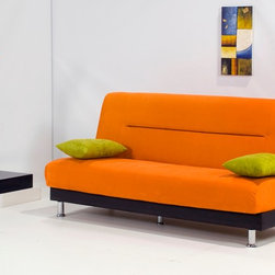 Laura Orange Sofa Bed - This delightful sofa bed is fine-looking piece that will immediately add sense of style and fashion to your living room.