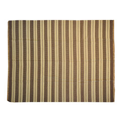 Area Rug, Hand Woven Durie Kilim 8'X10' Flat Weave 100% Wool Rug SH13761 - Soumaks & Kilims are prominent Flat Woven Rugs.  Flat Woven Rugs are made by weaving wool onto a foundation of cotton warps on the loom.  The unique trait about these thin rugs is that they're reversible.  Pillows and Blankets can be made from Soumas & Kilims.