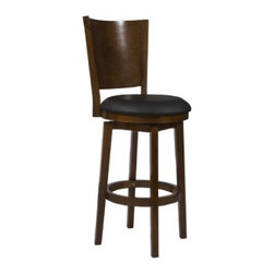 Powell - Powell 697-729 Big Tall Solid Back Wood Barstool - Big Tall Solid Back Wood Barstool by Powell