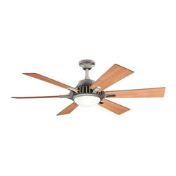 "Kichler - 52"" Valkyrie 52"" Ceiling Fan Antique Pewter - Kichler 52"" Valkyrie Model 300136AP in Antique Pewter with Reversible Light Cherry/Dark Cherry Finished Blades."