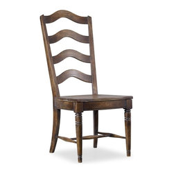 Hooker Furniture - Willow Bend Ladderback Chair - Set of 2 - Side - White glove, in-home delivery!  For this item, additional shipping fee will apply.  The Willow Bend collection is a perfect example of furniture inspired by the farm-to-table movement.  While Willow Bend has farmhouse overtones, it also intentionally appeals to urban and suburban consumers.  While it gives a nostalgic glance at simpler and more tranquil times, it offers an eclectic blend of modern function, technology-ready furniture and is paired with contemporary accessories.  Set of 2 chairs.