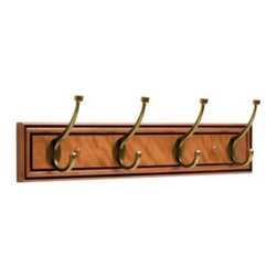 Liberty Hardware - Liberty Hardware 128737 0 27 Inch Hook - Warm Chestnut Antique English - This easy-to-install 24 in. Warm Chestnut Rail with 4 Antique English Pill-Top Hooks features a handsome chestnut finish. Four triple pill-top hooks provide an abundance of space for hanging items. Mounting hardware included. Width - 27 Inch, Height - 6.5 Inch, Projection - 3.5 Inch, Finish - Warm Chestnut Antique English, Weight - 4.5 Lbs.