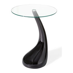 Zuo Modern - Zuo Modern Jupiter Modern Bistro Table X-111301 - A cute and funky table, Jupiter comes in a bistro for serving two seats. It is made with an ABS plastic body with a tempered clear glass top.