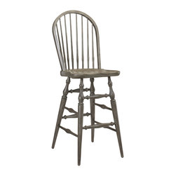 French Heritage - French Heritage Morlaine Bar Stool, Slate Grey - Morlaine bar stools are classically simple and perfect for a pub or cozy in the kitchen. - Weight: 24lbs