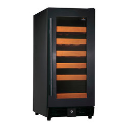 KingsBottle - 25 Bottle Compressor Single Zone Wine Cooler Full, Full Glass Finish - If you are looking for the perfect place to store your small, but impressive wine collection, look no further than this beautiful 25 bottle single temperature cooler. The full glass door and stainless steel handle make it a sleek and modern work of art that can stand alone in any home. Each unit is built with our exquisite attention to detail and with a true love of wine in mind. The perfect cooler for that perfect bottle