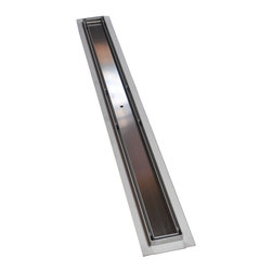 "Serene Steam - Royal Linear Shower Drain Tile Insert 47 by Serene Steam - Royal Linear Shower Drain Tile Insert Style by Serene Steam 47"", Brushed Nickel"