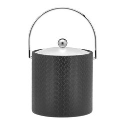Kraftware - San Remo Ice Bucket in Eclipse w Lucite Cover - Bale handle. 3 quart ice bucket. Made in USA. 9 in. Dia. x 9 in. H (3 lbs.)The Grant Signature Home collection's San Remo group features upscale leatherette vinyl's that have an old world charm. Beautifully textured and appointed, San Remo is a proven winner.