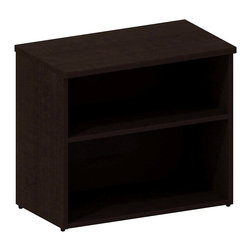 "Bush - Bush 300 Series Lower Bookcase Cabinet in Mocha Cherry - Bush - Bookcases - 300SBK302MR - Add attractive storage in a small footprint. Bush Mocha Cherry Series 30""W Lower Bookcase Cabinet single adjustable shelf makes space go further. With simple elegance as its foundation bookcase depth accommodates binders business manuals books photos plants knickknacks or other decorative items. Perfect for side-by-side placement with other 300 Series Pieces. Works in all residential commercial or office environments. Available in multiple finishes. Includes Bush Limited Lifetime warranty."