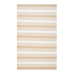 Safavieh - Thom Filicia Hand-woven Indoor/ Outdoor Beige Rug (6' x 9') - Safavieh's Thom Filicia Indoor/ Outdoor collection is inspired by timeless contemporary designs crafted with the softest plastic available.