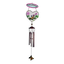 "GWC - 33 Inch Butterfly Design Heart Shaped ""Welcome"" Metal Wind Chime - This gorgeous 33 Inch Butterfly Design Heart Shaped ""Welcome"" Metal Wind Chime has the finest details and highest quality you will find anywhere! 33 Inch Butterfly Design Heart Shaped ""Welcome"" Metal Wind Chime is truly remarkable."
