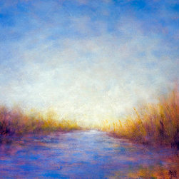 """Dawn Light"" (Original) By Victoria Veedell - I Was Inspired By The Early Morning Light Reflected On The Water At Elkhorn Slough An Estuary Reserve On The California Coast."