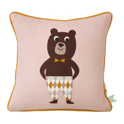 Ferm Living - Kite Bear Cushion - Only the best will do for the little ones. Our playful pillows are made of 100% organic cotton and printed by hand.