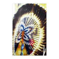 """24x36 Feather Wheel-Digital Print - Original Art by Ian Kennedy entitled """"Feather Wheel"""" it is printed on coated canvas that is mounted in Gallery Wrap style so the edges show all the color of the 24x36 image."""