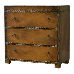 Silver Nest - Studded Three Drawer Chest - Studded three drawer chest.