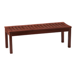Upton Home - Upton Home Kellen 4-foot Backless Bench - The tasteful slatted design of this natural oiled hardwood bench is perfect for styling along a patio wall or doubling as an outdoor cocktail table. The Indonesian hardwoods are fast drying,durable,and weather resistant for lasting quality...