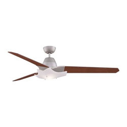 Fanimation - Fanimation The Wylde Ceiling Fan in Satin Nickel - Fanimation The Wylde Model FPD6220SN in Satin Nickel with Reversible Cherry/Walnut Finished Blades.