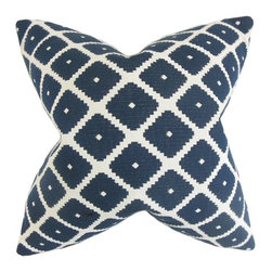 """The Pillow Collection - Fallon Geometric Pillow 20"""" x 20"""" - Decorating won't be such a daunting task with this accent pillow."""