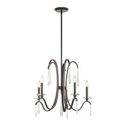 Kichler Lighting - Kichler Lighting Tara 5-Light Transitional Chandelier X-ZO88234 - With this 5 light chandelier from the Tara(TM) collection, chic is in the details. Crystal accents are the pearls of the outfit, giving each piece a finished feel that's sophisticated, polished and feminine. The rich Olde Bronze(TM) finish further enhances the elegance of this design.