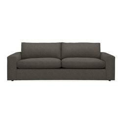 Harding Sofas- Room and Board - Blend-down cushions, a low profile and a deep, comfortable seat make the Harding sofa the ultimate spot to lounge. The wide arms combine with the clean lines of the contemporary design to create a strong, inviting presence in your room.