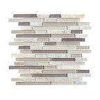Glass & Stone Mosaic - Ceramic Tileworks - Bliss Glass & Stone Mosaic Tile - Random Cotton Wood