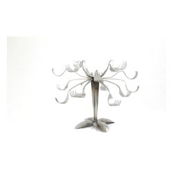 Forked Up Art - Jewelry Tree - For the woman that seems to have everything, this jewelry tree will throw creativity into the mix.  This is a great piece to display your jewelry whether for residential use or retail.