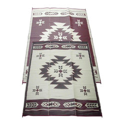 Fireside Patio Mats - Contemporary Indoor/Outdoor Fireside Patio Mats Rugs Navajo Breeze Burgundy and - Shop for Flooring at The Home Depot. Fireside Navajo Breeze 108 in. x 144 in. Reversible Patio Mat comes in a Burgundy and Beige color combination with additional neutral accents. This mat is large enough to comfortably sit 4 to 6 adults. Fireside reversible RV / Patio Mats will add a touch of elegance to your deck or patio. These high quality Polypropylene (plastic) mats are reversible with a complimentary pattern on the opposite side. You get two patterns for one low price. Fireside Patio Mats are lightweight and compact when folded so they are easy to travel with and easy to store. All of our Fireside indoor/outdoor reversible patio mats are stain and fade resistant and clean up is a breeze. Simply rinse your mat with a garden hose and allow to air dry. Fireside reversible patio mats have corner tie-down loops to stake the mat to the ground in windy conditions (tent stakes sold separately). Use our lightweight reversible patio mats to spruce up a tired old deck or patio while camping or RVing on the beach by the pool for picnics at car races while tailgating in the backyard or in the playroom or recreation room. Whether you call them RV mats RV awning mats or simply patio mats Fireside Patio Mats offers high quality reversible mats that are simply gorgeous and functional. Color: Burgundy and Beige / Neutrals.