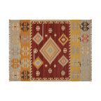 Dunham Kilim Recycled Yarn Indoor/Outdoor Rug - Keep things eclectic outside and pair this more traditional kilim indoor/outdoor rug with a sleek white table and chairs.