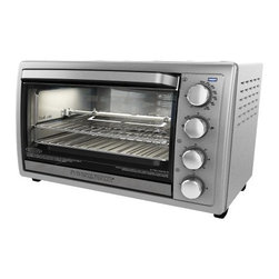 """Applica - Black Decker 9 Slice Rotis Convec Oven - Black and Decker 9-Slice Rotisserie Convection Countertop Oven Stainless fits up to 9-Slices or two 12"""" pizzas at once or a full size chicken on the removable rotisserie rack! Removable Rotisserie Rack Included"""