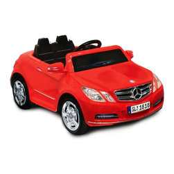 National Products Ltd - Kid Motorz Mercedes Benz E550 Battery Powered Riding Toy - Red Multicolor - 0770 - Shop for Tricycles and Riding Toys from Hayneedle.com! He'll be the swaggiest kid on the block when he rolls around in the Kid Motorz Red 6V Mercedes Benz E550 1 Seater. This is an officially licensed battery operated Mercedes Benz E550 ride-on. It features forward and reverse gears with a maximum speed 2.5 mph. Maximum load capacity 66 lbs. 6V rechargeable battery with UL listed charger included. Easy assembly. Product dimensions 44L x 24.5W x 20.7H inches. Made in China. Recommended for kids ages 3 - 6.About National ProductsA leading toy manufacturer and exporter in Hong Kong National Products is part of a group of four firms called the Playmind Ltd. Group. As recognized by peers the company is both a reputable and reliable working partner as well as supplier in the toy and ride-on industry. Most importantly it's not only children who have fun with National Products ride-on products; parents also appreciate the detailed life-like quality and safety of the innovative designs. National meets or exceeds all safety/quality control government guidelines.