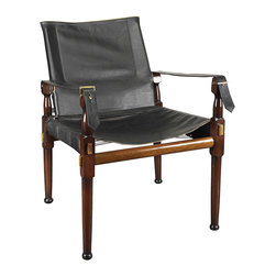 Authentic Models - Authentic Models MF072 Campaign Chair - A classic assembly campaign chair. Originally used in the British Imperial Army as an officer's chair when in camp. Heavy, double layered cowhide, elegant, natural leather piping. Brass hardware. Enjoy Victorian comfort combined with a timeless look.