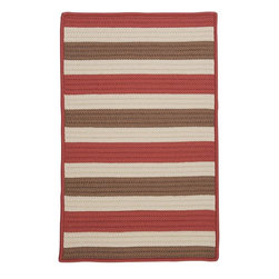 Home Decorators Collection - Baxter Area Rug - Roll our Baxter Area Rug out and let this striped floor covering speak for itself. The bright, vibrant colors and hassle-free care of this indoor/outdoor rug make it perfect for kids' rooms or outdoor spaces. Braided of durable synthetic fabric. Stain and fade resistant. Reversible. Suitable for indoor or outdoor use. Made in the U.S.A. Part of our Braided Collection.