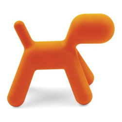 Magis - Puppy by Magis - This perky pup is ready to romp. The Magis Puppy was designed by Eero Aarnio as a playful design piece that is also durable enough to withstand children's rough-housing. Made entirely out of colorful, rotation-molded polyethylene, Puppy has a smooth matte surface that makes it comfortable to sit on and fun to play with indoors or out. Founded in 1976 by a newcomer to the Italian furniture business (Eugenio Peruzzi), Magis today continues to give modern furniture design a novel twist. Magis embraces the creativity of leading global designers (Richard Sapper, Jasper Morrison, Konstantin Grcic, Ron Arad and many others) and incorporates sophisticated technology and materials into every chair, table and design accessory they make.