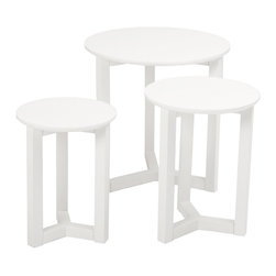 Euro Style - Euro Style Nicolo Nesting Tables 33209WHT - A set of beautiful perches. These immaculate white nesting tables provide that needed emphasis in a corner of next to a beloved chair or sofa. Nicolo nesting tables, the name rolls off your tongue as easily as they fit in your home.