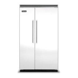 "Viking 48"" Built-in Side By Side Refrigerator, White 