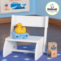 Kid Kraft - Kidkraft White Color Flip Stool From Vistastore - This is Kidkraft Flip Stool for kids from Vistastores. It is best for kids and kids have a great fun with this flip stool. Its classic piece of furniture and toddlers feel independent to the kids. It can also be Versatile as a chair or a step stool.
