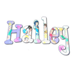 RR - Hailey Fairy Princess Hand Painted Wall Letters - Fairy Princess Hand Painted Wall Letters