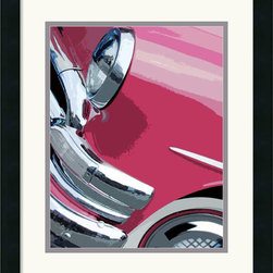Amanti Art - Tail Fins And Two Tones I Framed Print by Mike Patrick - Mike Patrick captures the intersection between art and engineering in this classic car detail.