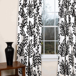 Mod Leaves Curtains - These curtains have a fun bold print that would add to a contemporary space.