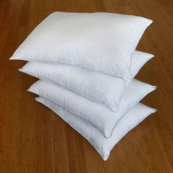 Famous Maker - Dobby-weave Cotton/Polyester Down Alternative Pillows (Set of 4) - Enjoy a comfortable night's sleep with this luxurious down alternative pillow. This bed pillow is distinctively designed with a dobby weave cover and .08 gel fiber fill to give the ultimate in support and comfort.