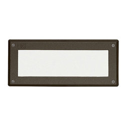 Kichler - Kichler 15774AZT27 Warm White 2700K Landscape LED Brick Light with Lens Face - Kichler 1577427 LED Glass Lens Face Brick Light